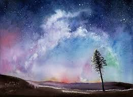 light up your room and spirit with this reion print of my watercolor night sky painting its easy to feel such awe and wonder gazing up to our