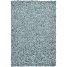 unique loom solid light slate blue 4 x 6 rug
