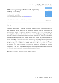pdf atude of engineering students towards engineering drawing a case study
