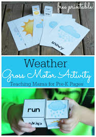 weather gross motor activity for pre