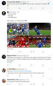 This is why this chelsea teenager is the best wonderkid this season #chelseafc #barcelona. Eden Hazard Vibes Chelsea Fans Go Nuts Over Mason Mount S Liverpool Goal Football London