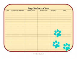 Dog Training Chart Canine Owners Can Use This Free Printable Dog Obedience