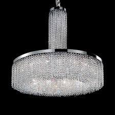 swarovski drop crystal round chandelier