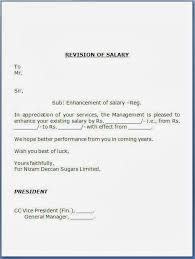 Salary Revision Letter Template 12 Salary Increases Letter Formats