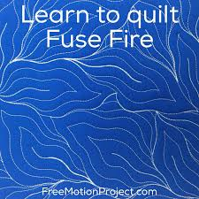 The Free Motion Quilting Project: Machine Quilt Fuse Fire #460 & machine quilting Fuse Fire Adamdwight.com