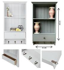 wooden vintage shelf unit with storage