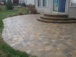 image of repaired curved paving slabs