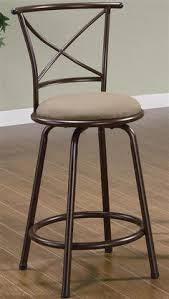 cross back swivel bar stool set of 2 ensure your breakfast bar or pub table has fortable long term seating with the coaster furniture 38 in