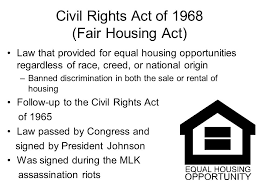 「The Fair Housing Act of 1968」の画像検索結果