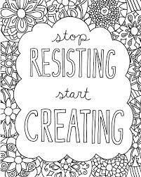 stop resisting start creating