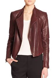 vince leather moto jacket