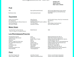 How To Make A Dance Resume Audition Resume Template Elegant Dance Example Download By