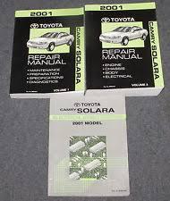 toyota camry solara service manual 2001 toyota camry solara service repair manual set wiring diagrams