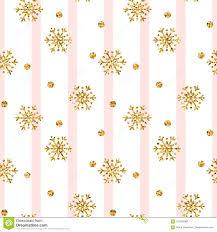 Christmas Gold Snowflake Seamless Pattern Golden Glitter Snowflakes