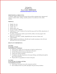 Hostess Resume Example Hostess Resume Sample Party Restaurant Document Samples Free Bunch 10