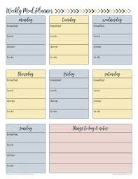 personal diet planner free weekly meal planner printable for busy families