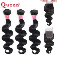 <b>Queen Hair Products Brazilian</b> Hair Weave Body Wave 3 Bundles ...