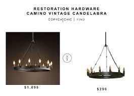 restoration hardware camino vintage candelabra for 1095 vs home depot verdun bronze chandelier for 296 copycatchic