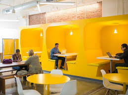 Chelsea office space lounge Manhattan 12 Awesome Offices Reveal What Work Will Look Like In The Future Bonetti Kozerski Photos An Inside Look At The Coolest Workplaces Of The Future