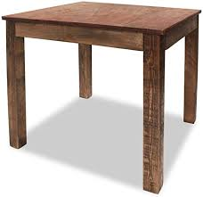 vidaXL <b>Vintage Style</b> Wood Dining Table <b>Solid Reclaimed</b> Wood for ...