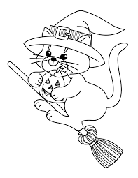 Small Picture Broom Coloring Page Halloween Witches Halloween Wizard
