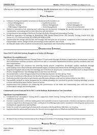 testing resume sample mobile testing resume software testing .