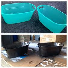 turquoise storage bins spray paint plastic bins with a metal finish and you get great inexpensive