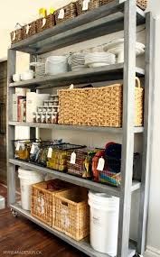Kitchen Pantry Shelf Rolling Kitchen Pantry Shelves