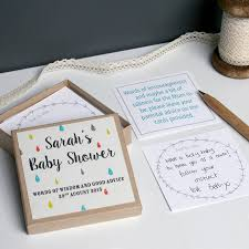 personalised baby shower message box