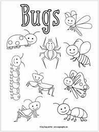 The printable insect coloring page also available in pdf file. Little Bugs Coloring Pages For Kids Easy Peasy And Fun