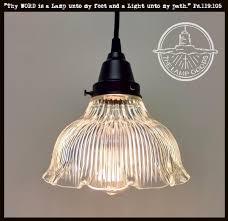 edison bulb flush mount light best of vintage holophane pendant light