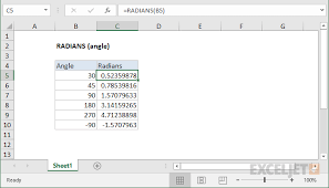 How To Use The Excel Radians Function Exceljet