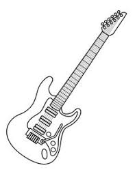 Small Picture Free Printable Coloring Pages for Summer Guitars Digi stamps