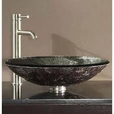 silver vessel sink. Unique Vessel Avanity Tempered Glass Vessel Sink  Metallic Silver Intended R