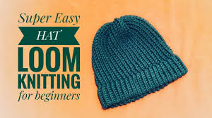How To Loom Knit A Hat Super Easy For Beginners Diy Tutorial