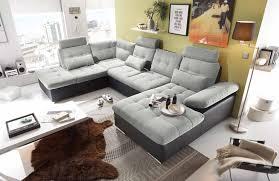 Couch Lifestyle4living Wohnlandschaft Schwarz