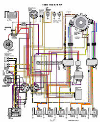 evinrude johnson outboard wiring diagrams mastertech marine v 6 motors 150 175 hp 1986