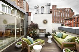 modern furniture nyc Deck Contemporary with chimney container garden exterior