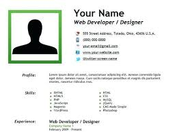 Online Job Resume One Page Resume Html Template Free Download Templates For Your