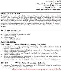 Administration Skills List Cv Port By Port