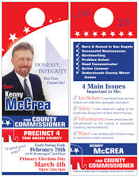 political campaign materials q s printing and design kenny mccrea door hangers 2