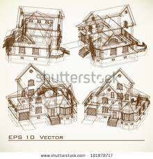 architectural buildings drawings. Beautiful Buildings Set Of Building Drawings Architectural Background Part Architectural  Project Plan Inside Buildings Drawings C