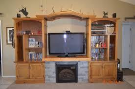 entertainment center fireplace