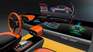 Car interior concept with infotainment and HUD design software used :-Alias  ,VRED, Photoshop.