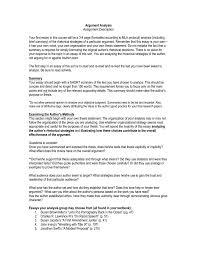Argument Analysis Assignment