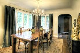 standard height of chandelier over dining table room with
