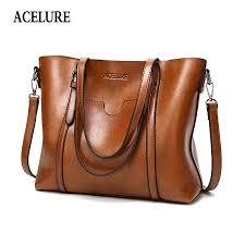 acelure women bag oil wax women s leather