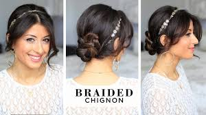 Chingon Hair Style Braided Chignon Hair Style Youtube 8669 by wearticles.com