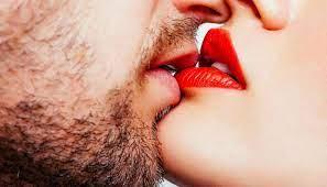 partner bites your lip while kissing