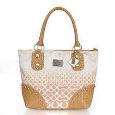 ... coach knitted stud medium apricot satchels err